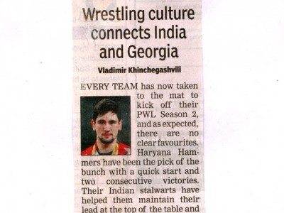Wrestling culture connects India and Georgia