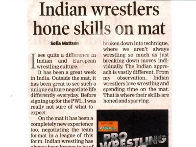 Indian wrestlers hone skill at mat