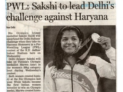 Sakshi to lead Delhi's challenge against Haryana