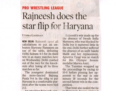 Rajneesh does the star flip for Haryana