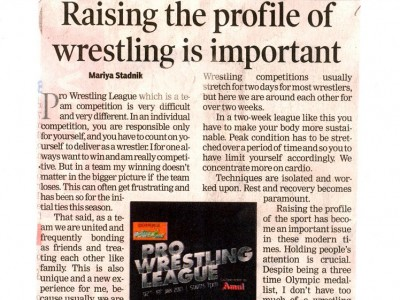 Raising the profile of wrestling is important