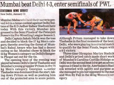Mumbai beat Delhi 4-3