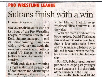 Sultans finish with a win