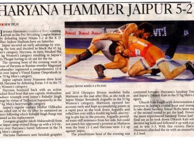 Haryana Hammer Jaipur 5 - 2