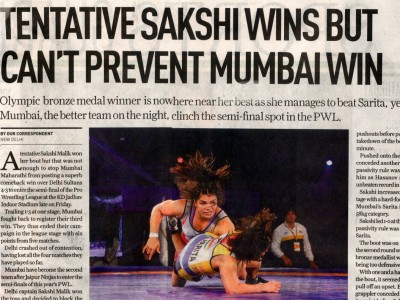 Tentative Sakshi Wins