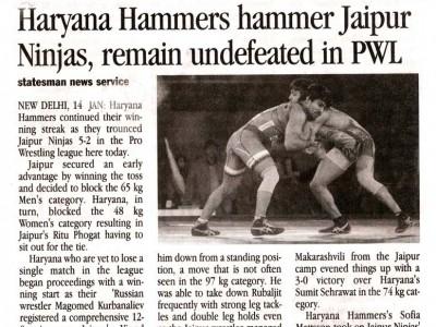 Haryana Hammers hammer Jaipur Ninjas