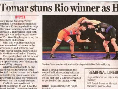 Tomar Stuns Rio Winner