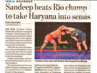 Sandeep beats Rio Champ