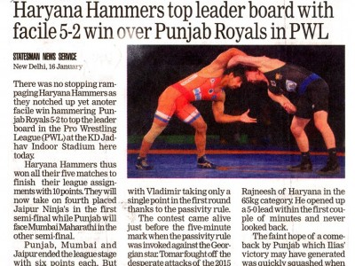 Haryana Hammers top leader board