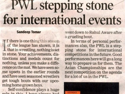 PWL stepping stone for International events