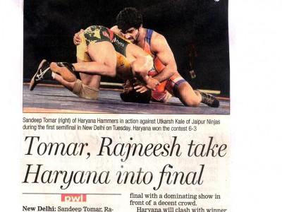 Tomar, Rajneesh take Haryana into finals
