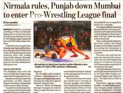 Nirmala rules, Punjab down Mumbai