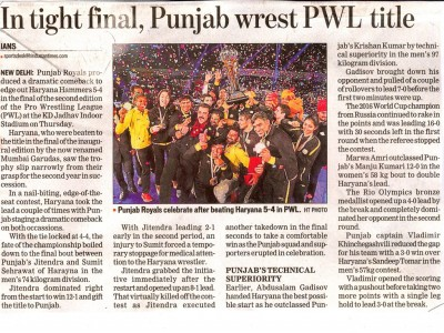 In tight final, Punjab Wrest PWL title