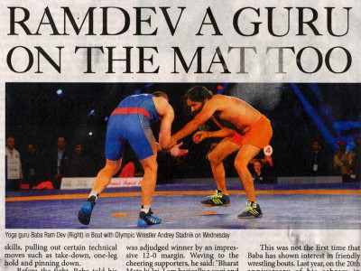 Ramdev a Guru on the Mat too