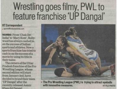 Wrestling goes filmy