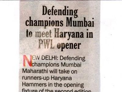 Defending Champions Mumbai to meet Haryana