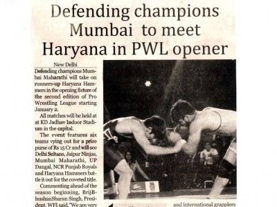 Mumbai to meet Haryana in PWL Opener
