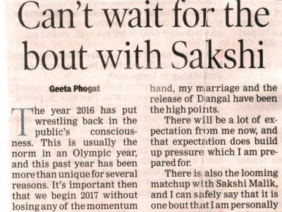 Can't wait for bout with Sakshi