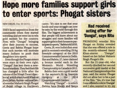 Hope more families support Girls