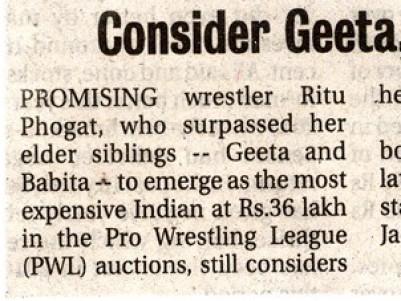 Consider Geeta,Babita my idols