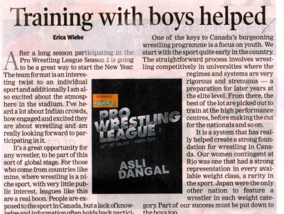 Training with boys helped