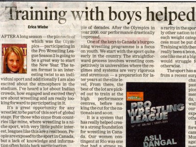 Training with boys helped a lot