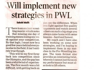 Will implement new strategies in PWL