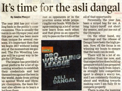 It's time for asli Dangal