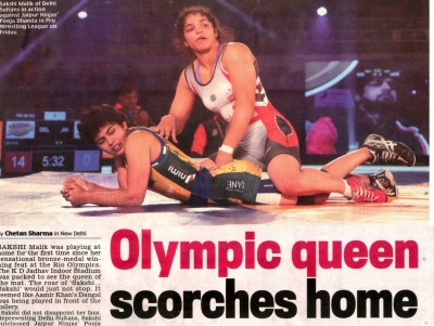 Olympic queen scorches home turf